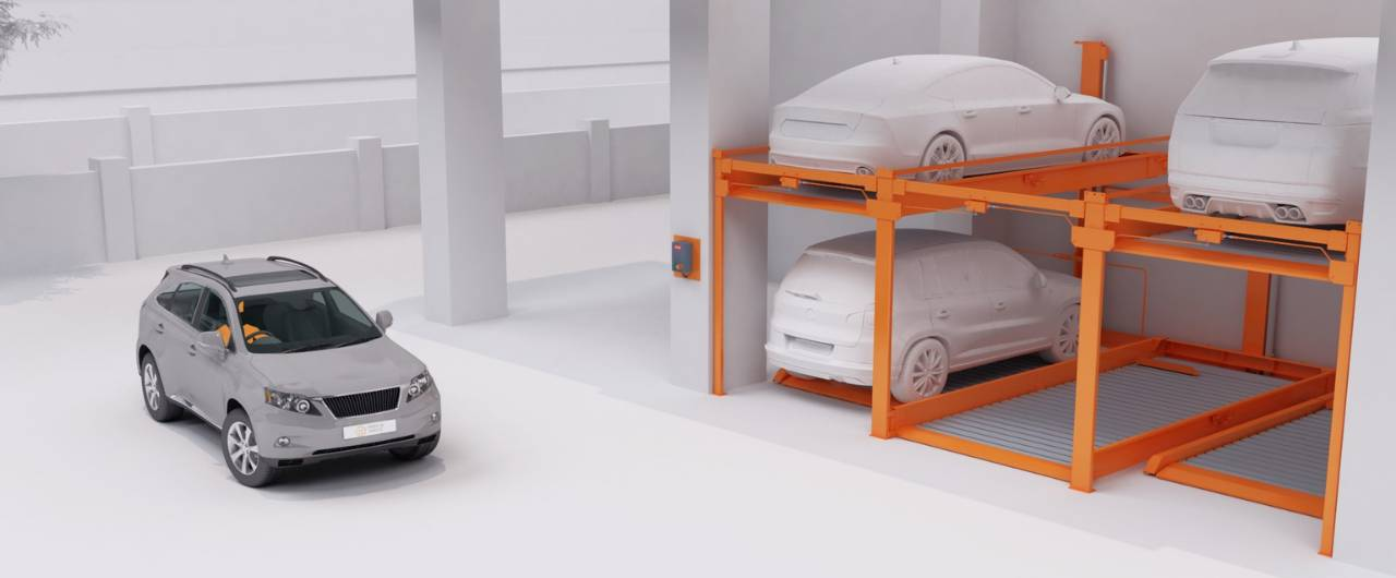 P210_The semi automatic puzzle parking system without a pit