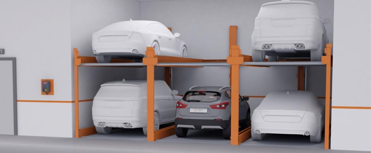 P-210 | Semi-automatic Puzzle Parking System - KLAUS Multiparking