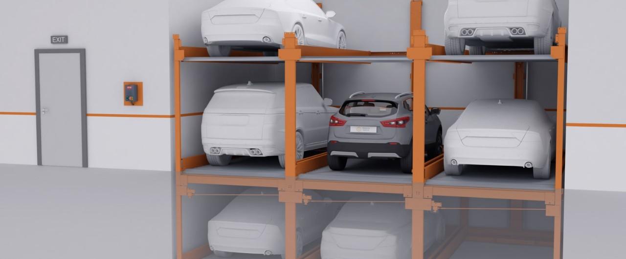 P-310|Semi-automatic Puzzle Parking System - KLAUS Multiparking